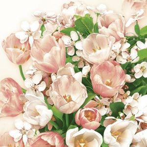 Serwetki 33x33 MAKI WIOSNA 0048 01 Pink Tulips &Cherry Blossom op.20szt(12)