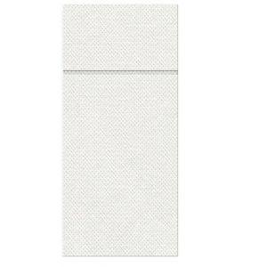 Etui na sztućce serwetka PUNTA białe op.50szt, 1/8 rozmiar 38x32cm (k/25) PAW