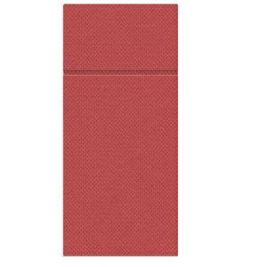 Etui na sztućce serwetka PUNTA czerwone op.50szt, 1/8 rozmiar 38x32cm (k/25) PAW