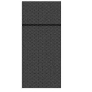 Etui na sztućce serwetka PUNTA czarne op.50szt, 1/8 rozmiar 38x32cm (k/25) PAW