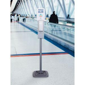 Zestaw stojak z automatycznym  dozownikiem, stalowy