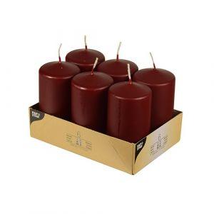 Stump candles 11.5cm, maroon diameter 60mm op. 6 pcs
