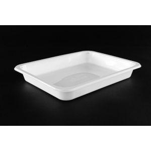 Pojemnik obiadowy, cateringowy do zgrzewu 227x178x3 biały, niedzielony, gładki TnP op. 50 sztuk