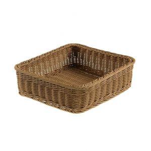Polyirattan basket GN2/3 32,5x32,5x10