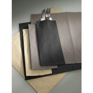 Paper cutlery cases VENICE 11x25cm grey, 400 pieces