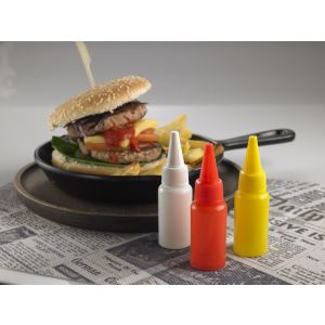 Mini sauce dispenser 32 ml PE yellow Op. 6 pcs.