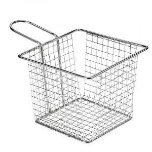 Koszyk stalowy kwadratowy 12,7x12,7x10 cm stal nierdzewna