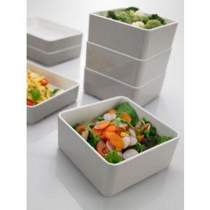 Square tray Le Perle grey/white 15x15x6 melamine
