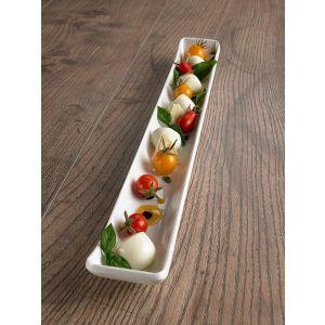 Le Perle rectangular tray white
