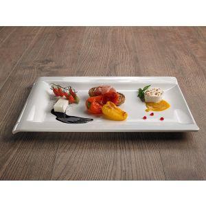 Rectangular tray Le Perle white melamine 44x27x3cm
