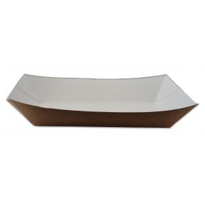 Tacka brązowo/biała, bez nadruku, 20x12x5 cm, op. 100 sztuk