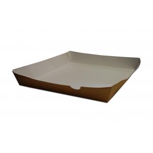 Tacka brązowo/biała, mała, bez nadruku, 14x24 cm, op. 100 sztuk