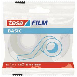 Taśma biurowa TESA Basic 33m x 15mm z dyspenserem w etui