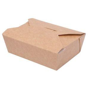 TAKEOUT BOX 14x10x5cm 750ml EKO karton biało-brązowy klejony TnG op. 50 sztuk
