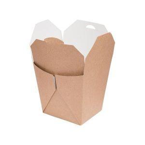 TAKEOUT BOX 8,5x7,5x10,5cm 700ml EKO karton biało-brązowy klejony TnG op. 50 sztuk