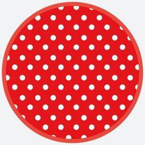 Talerz papierowy OGÓLNY fi 180 mm GROSZKI wzór nr 038303 Red dots op. 8 sztuk