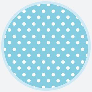Talerz papierowy OGÓLNY fi 180mm Kropki 038306 Blue Dots op. 8 sztuk