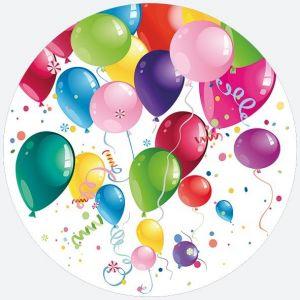 Talerz papierowy OGÓLNY fi 227 mm BALONY wzór nr 028601 Party Ballons op. 8 sztuk