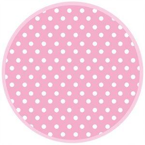 Talerz papierowy OGÓLNY fi 227 mm GROSZKI wzór nr 038307 Pink Dots op. 8 sztuk