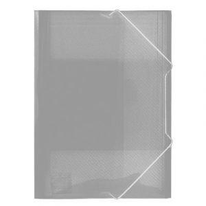 Teczka A4 z gumką - szeroka Biurfol TG-12-05 bezbarwna transparentna