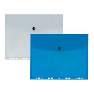 Teczka koperta A4 transparent, wpinana do segregatora Biurfol TP-12-05 przeźroczysta
