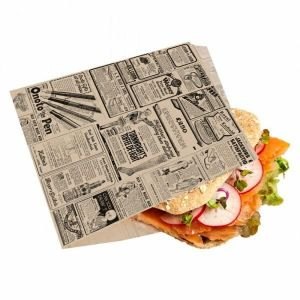 TIMES kraft torebka burger/kebab 16x16,5cm, tłuszczoodporny pergamin, op. 500 sztuk