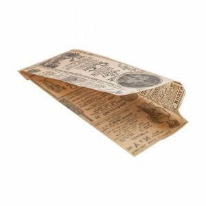 TIMES kraft torebka hot-dog 9 + 3x22cm, tłuszczoodporny pergamin, 500 sztuk