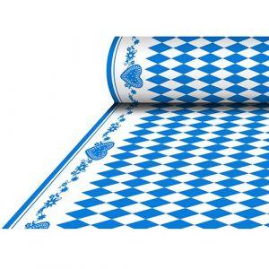 Tablecloth Airlaid 1,18x25m Bavarian Blue imitation fabric