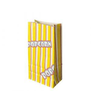 Torebki na POPCORN 1,3l papier odporny na tłuszcz 10,5x20,5cm z nadrukiem 100g op. 100 sztuk