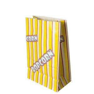 Torebki na POPCORN 2,5l papier odporny na tłuszcz 14x22cm z nadrukiem 100g op. 100 sztuk