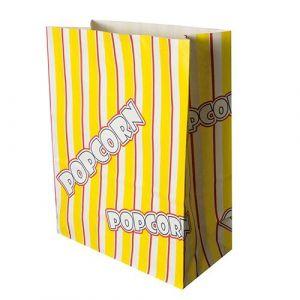 Torebki na POPCORN 4,5l papier odporny na tłuszcz 19x24,5cm 100g op. 100 sztuk