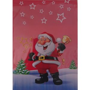 Christmas PP bags 20x35 red MK Santa Clauses, 50 pieces