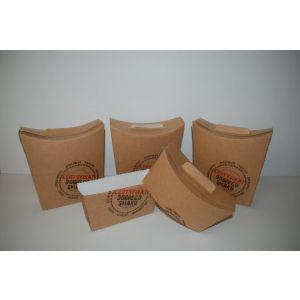 Pudełko CERTYFIKAT hamburger, wrap lub tortilla, duże z perforacją opakowanie 100szt