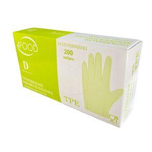 Rękawice TPE niebieskie roz. M/L op.200szt, (k/15)