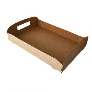 Taca transportowa cateringowa 35x24cm, biodegradowalne, op. 10 sztuk