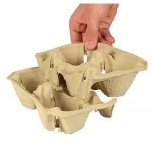 Tacka z masy papierowej na 2 kubki 50x200x112mm op. 360 sztuk