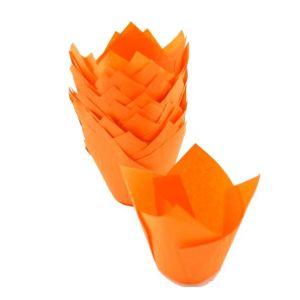 Papilotki TULIPANKI pomarańczowe op.200 szt, wymiar 50mm x h85mm