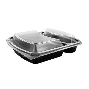 V 413 lid for container 935ml, 50 pcs bipartite (c/8), transparent, PP