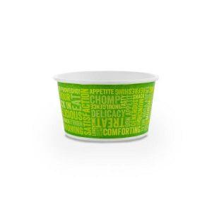 Pojemnik papierowy zupa 340ml op.25szt. śr.11,5x(h)6,2cm, powleczony PLA (k/20)
