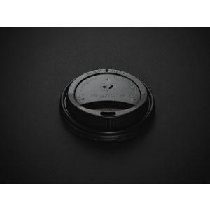 Dekiel 80mm C-PLA do kubka czarny  op.100szt., biodegradowalny (10)