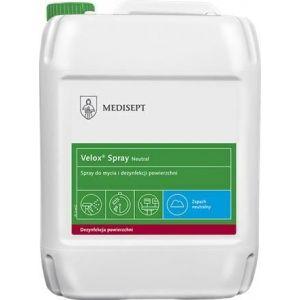 MEDISEPT Velox Spray Neutral 5L Alkoholowy gotowy do użycia preparat do mycia i dezynfekcji powierzchni sprzętu medycznego