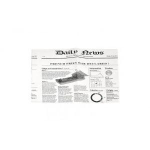 Papier woskowany biały 35x27cm nadruk NEWSPRINT, 22gr/m2 w poręcznym dyspenserze op. 1000 arkuszy