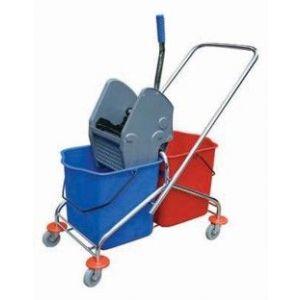 Wózek 2-wiaderkowy 2x25L na stelażu metalowym
