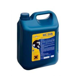 WC San - op.5kg - zawiera chlor. Usuwa zanieczyszczenia i wybiela powierzchnie.