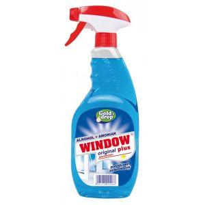 Płyn do mycia szyb i luster WINDOW PLUS Ammonium 750ml z rozpylaczem