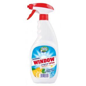 Płyn do mycia szyb i luster WINDOW PLUS Lemon fresh 750ml z rozpylaczem