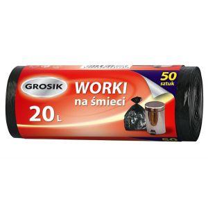 Worki na odpady HDPE 20l GROSIK op. 50 sztuk