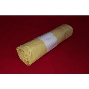 Worki na śmieci grube z taśmą 60l żółte (10szt na rolce)