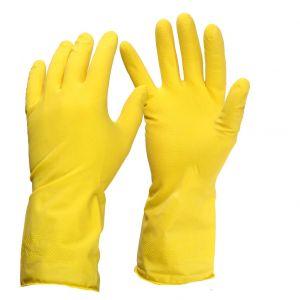Rękawice gumowe flokowane, rozmiar S, 1 para