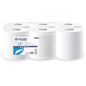 Ręcznik rola L-ONE STRONG 450 LUCART 158m MAXI, biały 2W centralnie dozowany reflex op. 6 rolek